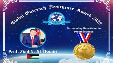 Photo of جائزة الباحث المتميز لأكاديمي أردني من جمعية دولية