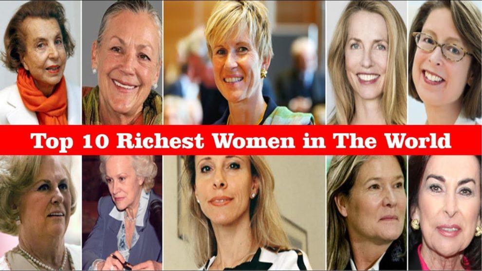 صورة تجمع اغنى 10 نساء في العالم