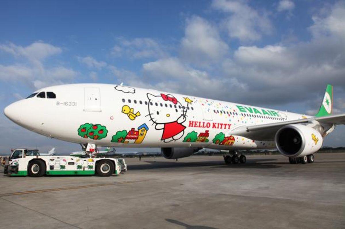 "طائرة ""هيلو كيتي"" في تايوان."