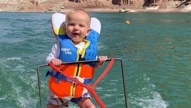 أصغر متزلج على الماء