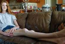 المراهقة ذات اطول ساقين