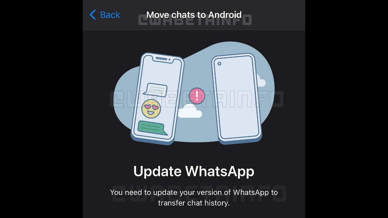 Transfer the conversation from iPhone to Android via WhatsApp
