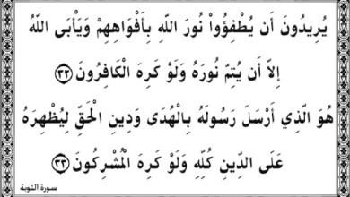 """Photo of """"هو الذي أرسل رسوله بالهدى ودين الحق  ليظهره على الدين كله وكفى بالله شهيدا"""""""