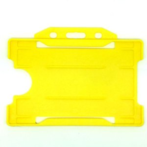 Single-Sided Open Faced ID Card Holder - Landscape (Yellow)