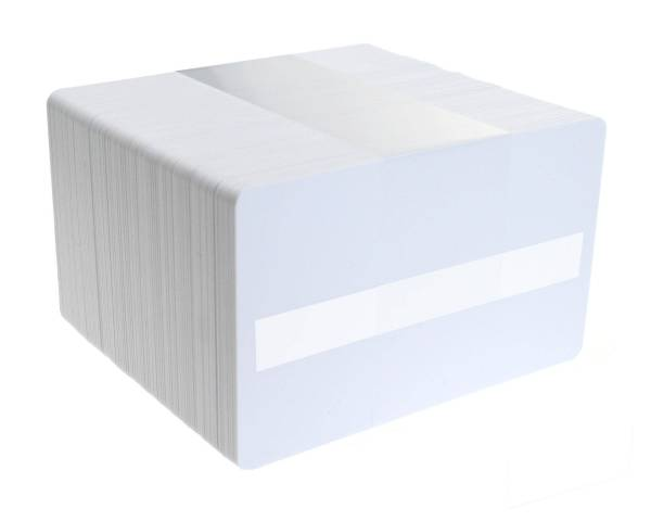 Dyestar Blank White Plastic Cards With Signature Strip (Pack of 100)