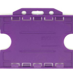 Double-Sided Open Faced ID Card Holder – Landscape (Purple, Pack Of 100)