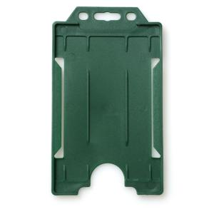 Single-Sided Open Faced ID Card Holder - Portrait (Dark Green)