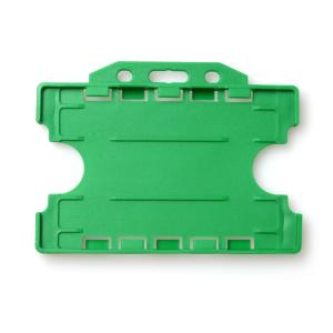 Double-Sided Open Faced ID Card Holder - Landscape (Light Green)
