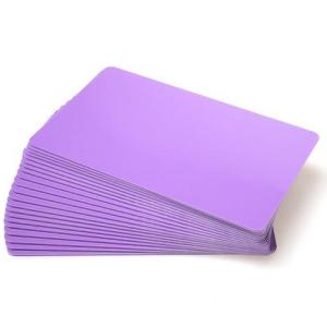 Purple Coloured Plastic Cards - 760 Micron (Pack of 100)