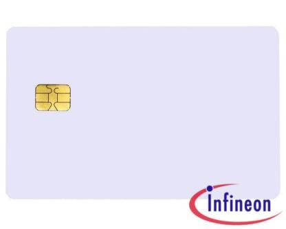 Pack of 100 Plain White PVC SLE 4428 Chip Cards
