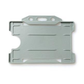 Single-Sided Open Faced ID Card Holder - Landscape (Grey)