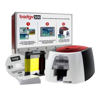 Evolis Badgy 200 ID Card Printer Bundle (Single-Sided)