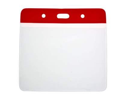Vinyl Red Top Card Holders - 102x83mm (Pack of 100)