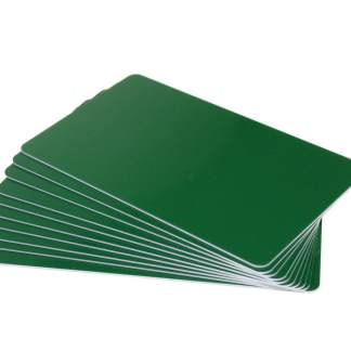 Forest Green Coloured Plastic Cards - 760 Micron (Pack of 100, White Core)