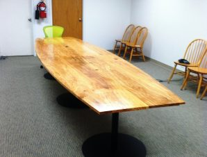 22 Conference Table 14 Feet Long With Company Logo