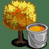 Yellow Maple Tree Promocion: Fall Categoria: Fruits Empieza: 11/05/2009 Finaliza: 12/01/2009 Coste: 300 Monedas que produce: 25 Se vende por: 15