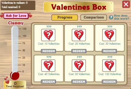 Valentines Box interior