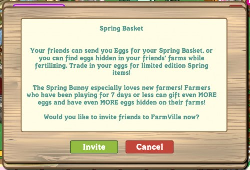 Spring Basket Farmville 2