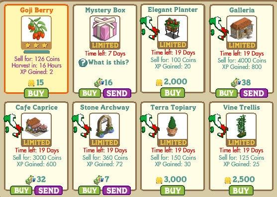 Mystery Box, Elegant Planter, Galleria, Cafe Caprice, Stone Archway, Terra Topiary y Vine Trellis