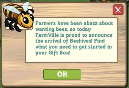 Contruimos la colmena en Farmville: Lo encontraras en la Gift Box