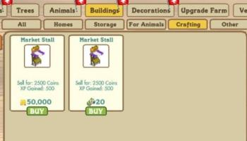 Crafting Buildings farmville 4