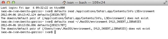 Ejemplo de Mac no afectado por el troyano Flashback