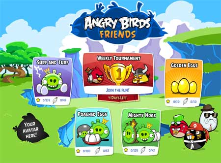 Juega a Angry Birds Friends en Facebook