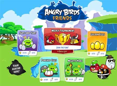 Angry Birds Friends en Facebook