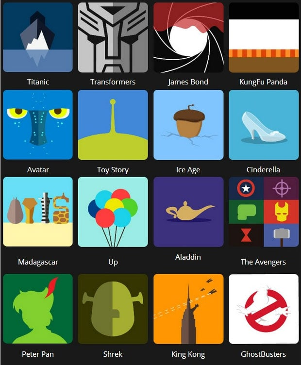 Icon Pop Quiz Answers Tv&Film Level 1