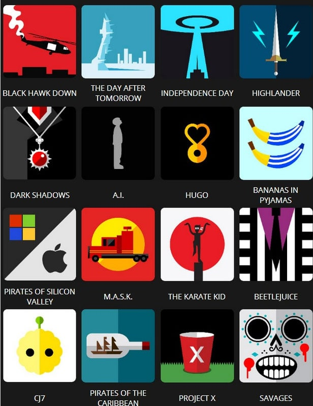 Icon Pop Quiz Answers Tv&Film Level 7