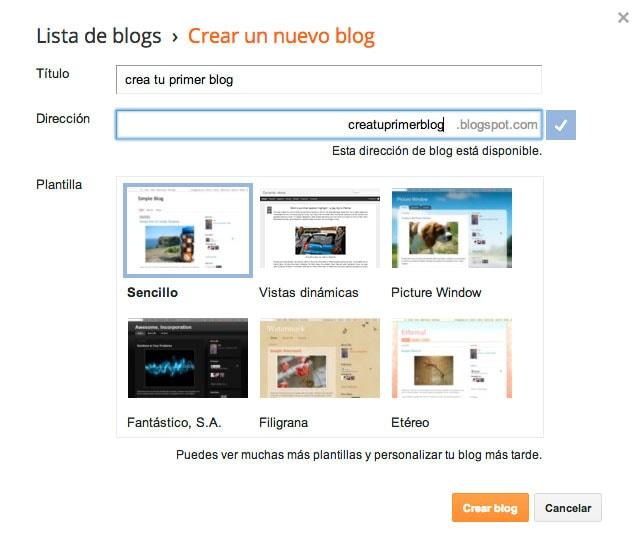 Cómo crear un blog gratis en blogger.com