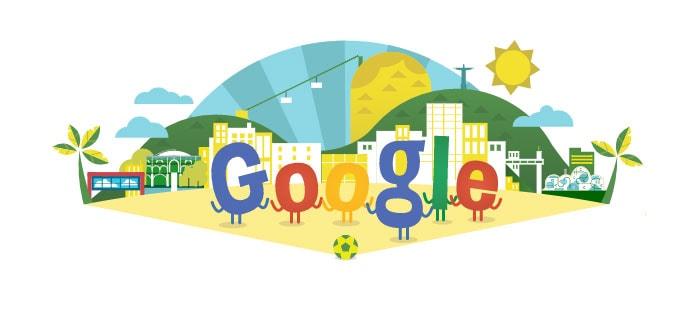 Doodle Mundial de Fútbol Brasil 2014
