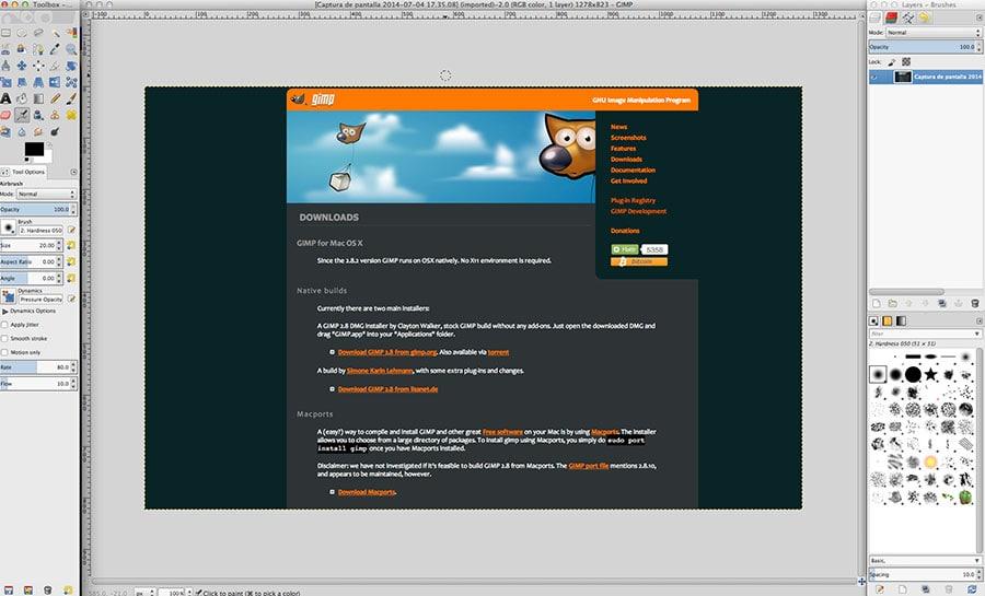 Gimp Mac - retoque fotografico