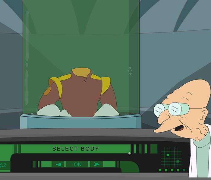 Crea tu propio avatar de Futurama