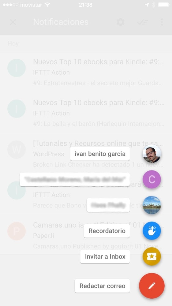 Invitaciones para Google Inbox