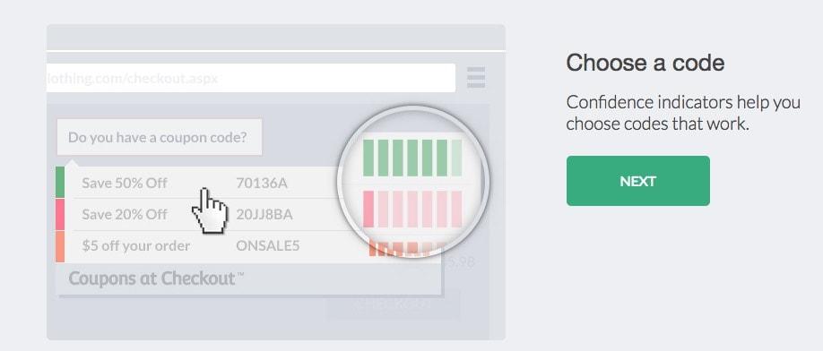 Cupones de descuento online: coupons at checkout