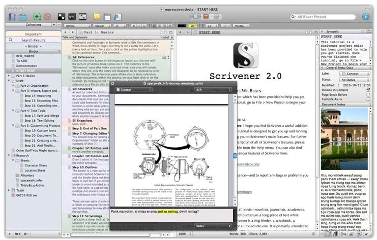 El mejor programa gratuito para escribir libros y crear ebooks: Scrivener