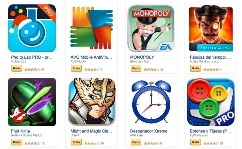 Amazon ofrece aplicaciones gratis para Android valoradas en más de 90 euros