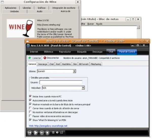 wine: windows en linux