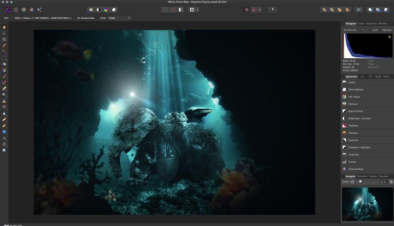 Programa de edición fotográfica al nivel de photoshop para Mac gratis: Affinity Photo