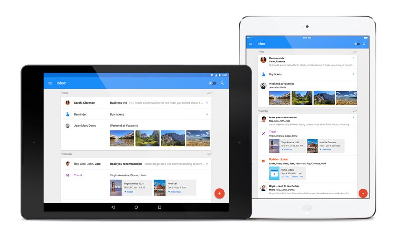 Inbox by Gmail disponible para iPad, tablets Android, Safari y Firefox