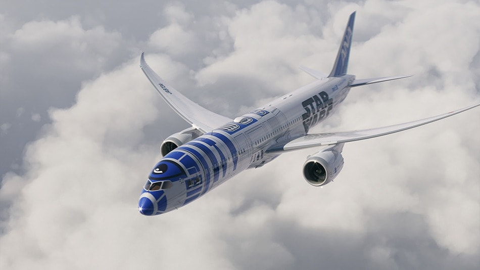 r2-d2 star wars avion