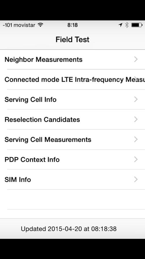 Cómo podemos saber que potencia y cobertura tiene la señal de telefonía de nuestro iPhone