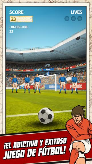 Los 10 mejores juegos de deportes para el iPhone (2015) Flick Kick Football
