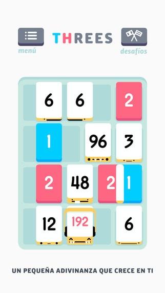 Los 10 mejores juegos de puzzles para el iPhone: threes