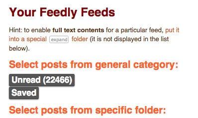 Cómo leer tus artículos de Feedly offline en un eBook