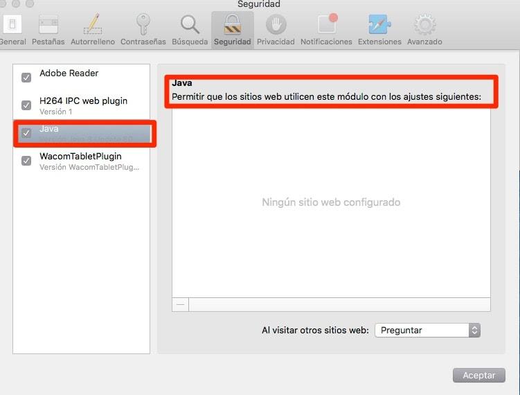 Cómo desactivar Java en Mac OS X para conseguir un sistema más seguro