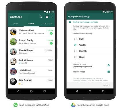 Cómo realizar un backup de WhatsApp en Google Drive