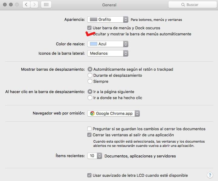 Cómo ocultar el dock y la barra de menús en OS X (Mac)