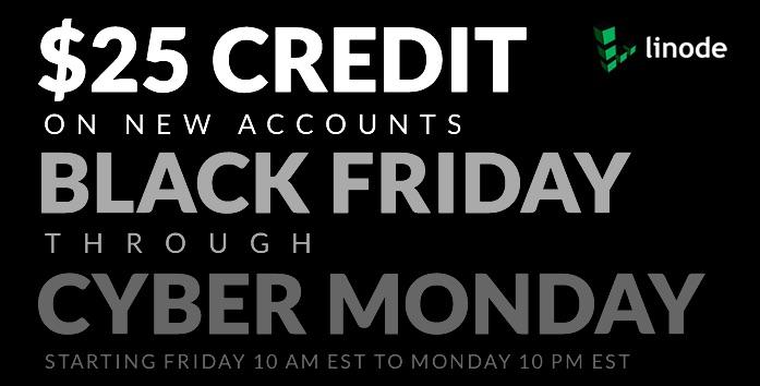 Oferta de hosting web con Linode: 25$ de crédito (especial Black Friday – Cyber Monday)